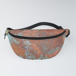 Tarnished Metal Copper Texture - Natural Marbling Industrial Art Fanny Pack