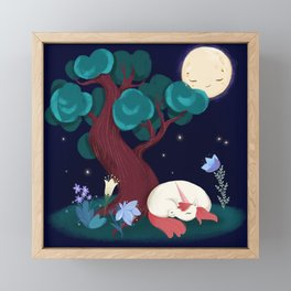 Bedtime Sweet Dreams For All Magical Creatures Framed Mini Art Print