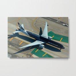 "Air New Zealand Boeing 777-319(ER) ""All Blacks"" ZK-OKQ Metal Print"