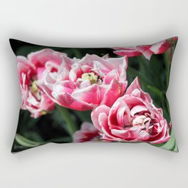 Double Late Peony-Flowered Tulip named Horizon Rectangular Pillow