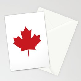 Image: Canada maple leaf (red) Stationery Cards
