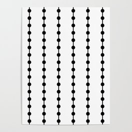 Geometric Droplets Pattern Linked Poster