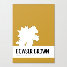 No38 My Minimal Color Code poster Bowser Canvas Print