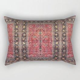 Antique Persian Red Rug Rechteckiges Kissen