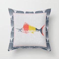 Thrift Store Fish 2 Throw Pillow