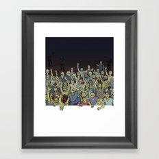 Zombies!!! Framed Art Print