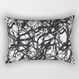 Black Trees Rectangular Pillow