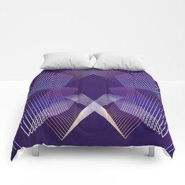 - Citylife - geometric futuristc art Comforters