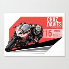 Chaz Davies - 2015 Aragon Canvas Print