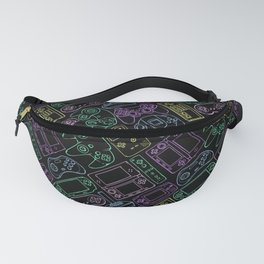 Video Game Controllers in Neon Colors Fanny Pack