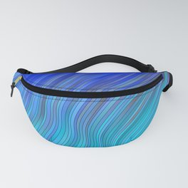 stripes wave pattern 2 with lines vc80i Fanny Pack