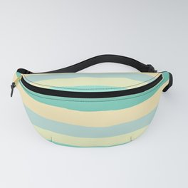 lumpy or bumpy lines abstract and summer colorful - QAB271 Fanny Pack