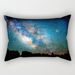 The Milky Way Mountains Rectangular Pillow