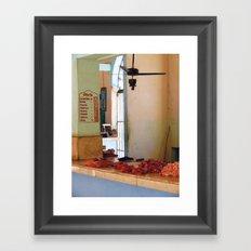Butcher meat market - photography print Framed Art Print