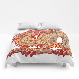 Old China Dragon Comforters