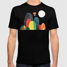 Wanderlust Black SMALL Mens Fitted Tee