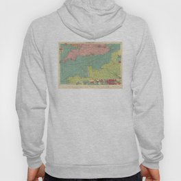 Vintage Map of The English Channel (1922) Hoody