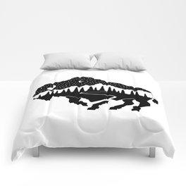 Grand Teton Bison Comforters