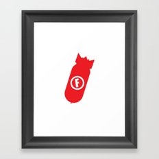 F Bomb Framed Art Print
