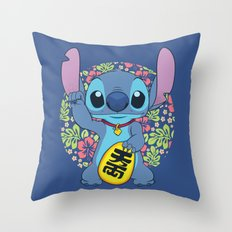 Maneki Stitch Throw Pillow