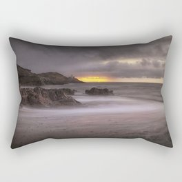 Stormy sunrise at Bracelet Bay Rectangular Pillow
