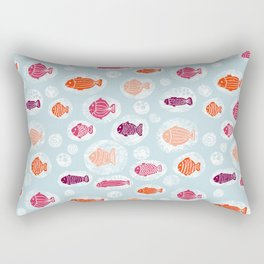 School Of Fish Kids Rectangular Pillow