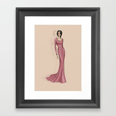Lora Framed Art Print