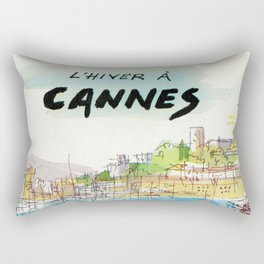 Winter In Cannes Rectangular Pillow