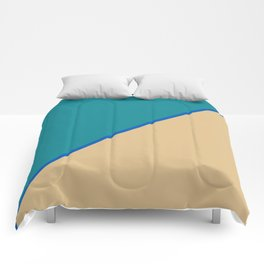 Pearl Green & Old Pink - 2 color oblique Comforters