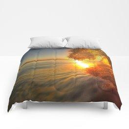 Chris Harsh Photos * Golden Wave At Dawn Comforters