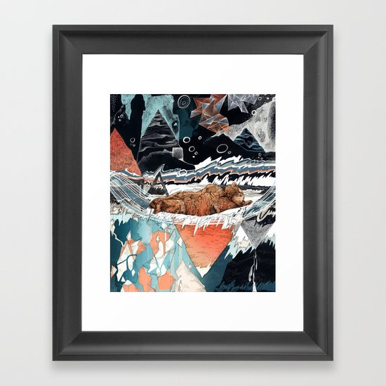 Seconds Behind Framed Art Print
