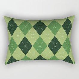 Argyle greens Rectangular Pillow