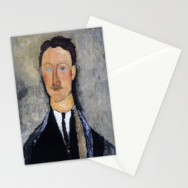 Amedeo Modigliani - Portrait Of The Artist Leopold Survage - Digital Remastered Edition Stationery Cards