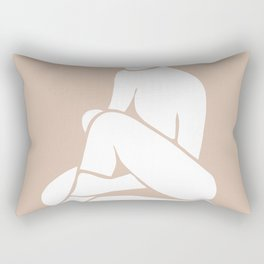 tan abstract nude 2 Rectangular Pillow