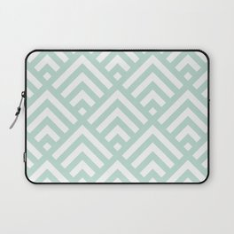 Turquoise Blue geometric art deco diamond pattern Laptop Sleeve
