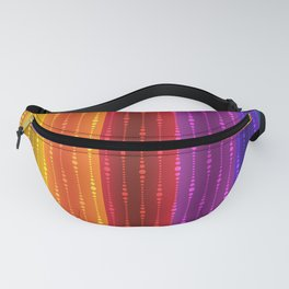 Jewel Tone Color Stripes Fanny Pack