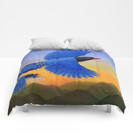 Taiwan Blue Magpie(1) Comforters