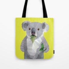 Koala with Koalafication Polygon Art Tote Bag