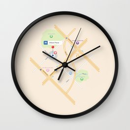 Different Places! Wall Clock