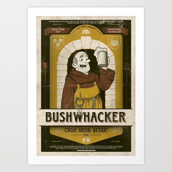 Classic Posters. Bushwacker Art Print