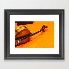 Violin on the Floor Framed Art Print