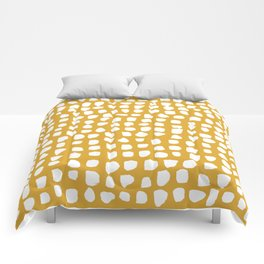 Dots / Mustard Comforters