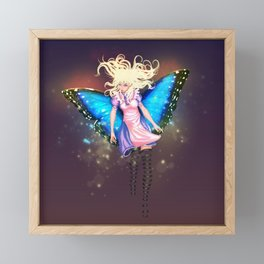 Butterfly Alice Framed Mini Art Print