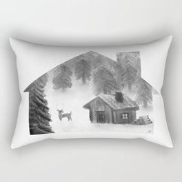 Comfort My Soul B&W Rectangular Pillow