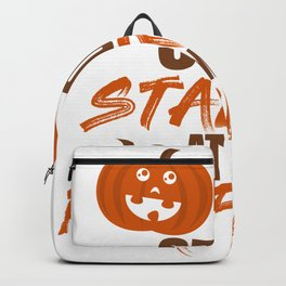 Woman Pumpkin funny breasts Halloween gift Backpack