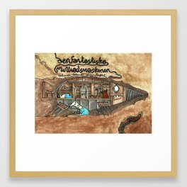 The fantastic mole-machine Framed Art Print