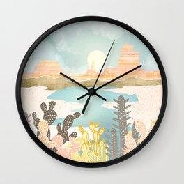 Retro Desert Oasis Wall Clock