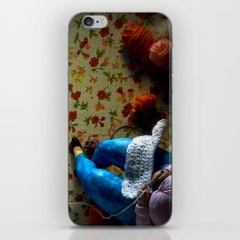 The knitter. iPhone Skin