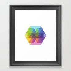 Fig. 040 Hexagon Shapes Framed Art Print