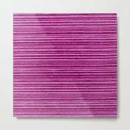 Magenta pink modern geometrical stripes pattern Metal Print